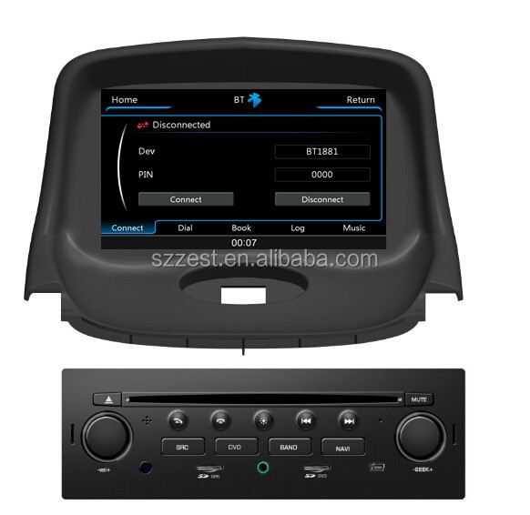 2 din 7 inch car dvd player Bluetooth GPS CD Player steering wheel, 2 din car dvd for peugeot 206!