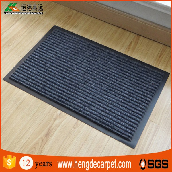 commercial anti slip shower double striped toilet mat for sale