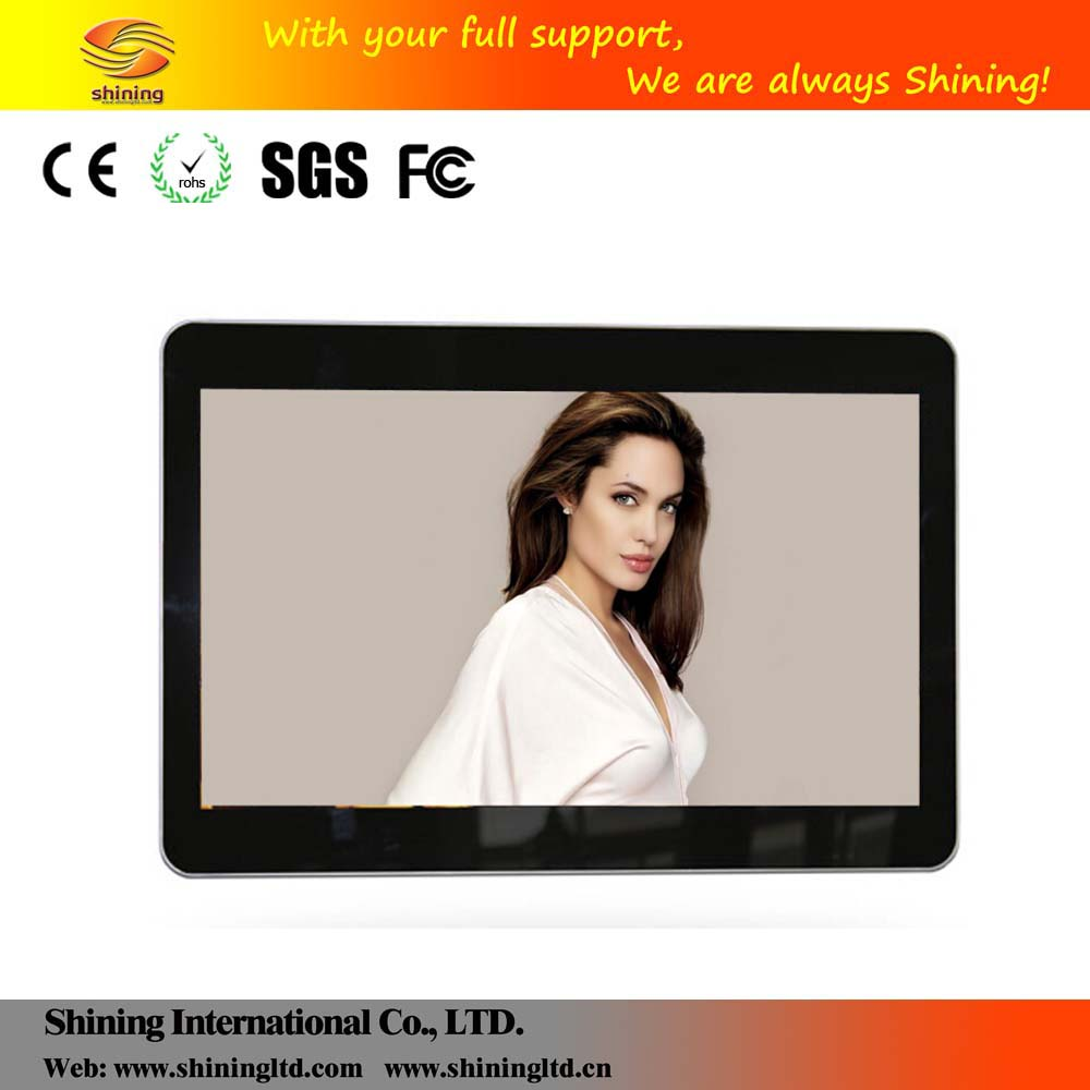 Digital signage 55 inch wall mount touch lcd media player english blue movie video free download SH5503AD