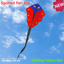 Weifang New design spotted fish kite,long tail kite from the kite factory