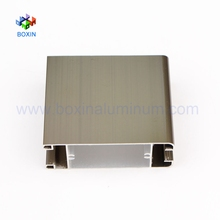 Bright surface anodized weight of aluminum window frame section