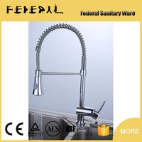 CUPC brass Spring Kitchen faucet with pullout sparyer