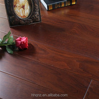 Stained Dark American Black Walnut Engineered Wood Flooring for trailer