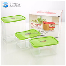 wholesale 2014 new plastic crisper 3pcs round food container sets fresh containers 11sets