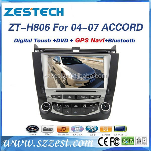 ZESTECH car dvd gps navigation system for Honda Accord 7 touch screen with DVD +3G+BLUTOOTH +AM/FM 2004 2005 2006 2007