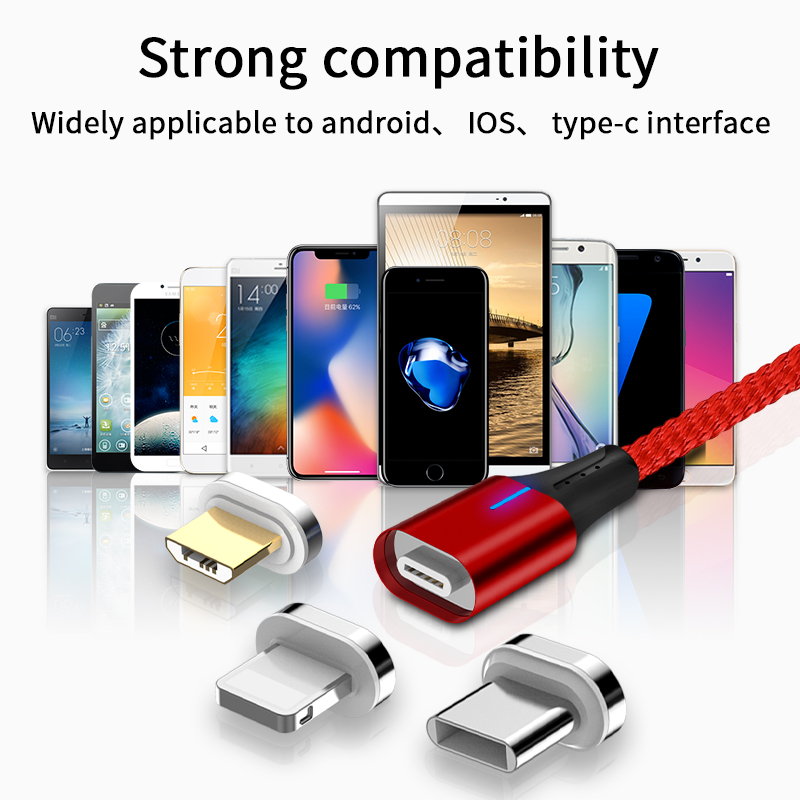 Original design USB   cable  mobile data cable 3A fast speed charging colorful  usb data sync cable for android, /type C/ios
