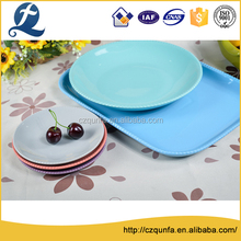 Different size restaurant use beaded edge ceramic pizza plate