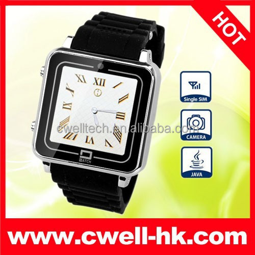 Fashion Metal Body PS-TW208 JAVA GSM Bluetooth Watch Phone