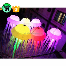 Wedding decoration Inflatable hanging Giant colour Jellyfish ball / Inflatable LED Jellyfish light ST155