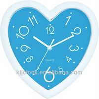 Heart Shape Clocks Blue Dial With White Frame
