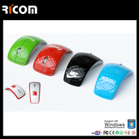 optical 2.4G wireless mouse foldable usb mouse wholesale for computer,laptop,desktop