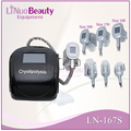 portable 3 cryolipolysis handles, 3 heads cryo slim machine