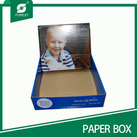 China experienced shelf ready packaging tear away counter paper display box