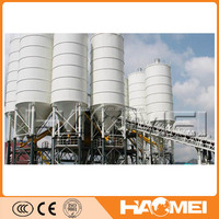 Stationary 90 m3 per hour concrete batching plant ready mix machine