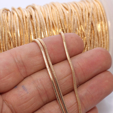WT-BC074 1.2mm Wholesale Fashion Snake Gold Plated Brass Chain,High Quality Snake Gold Chain For Jewelry Making