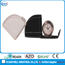 High quality PU leather table clock wholesale