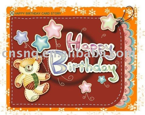 Make-to-order lovely animal Birthday card/ Handmade Birthday Greeting Card Designs