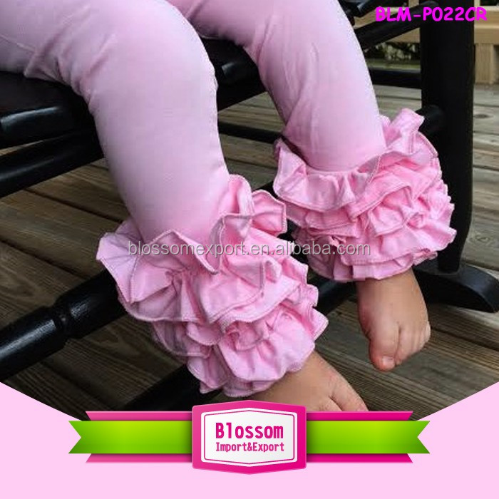 2017new style Hot sale triple ruffle icing leggings girls high quality baby pink icing ruffle pants wholesale kids leggings