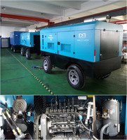 mobile diesel rotary screw air compressor for mining drill rigs