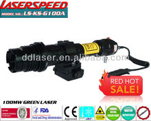 Zoomable hunting green laser focusable sight for night vision