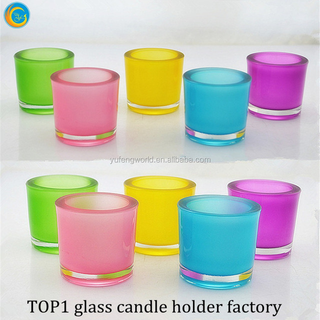 2017 wedding centerpieces thick glass candle jar/ votive glass tealight holder