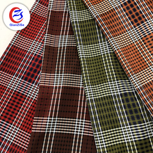Fabric textile supplier new style Fashion Dress grid printed chiffon fabric