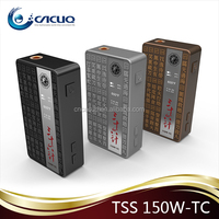 150w Tc Vapmod Tss 150w 2*18650 temp control mod VV VW box mod 150W TC Vapmod TSS 150W 36 Strategy wholesale factory price
