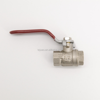 Yuhuan factory hot sale water flow control manual brass threaded ball valve 1/2