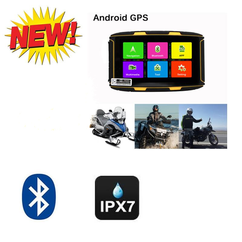 New product 5 inch Android Waterproof IPX7 GPS 8GB Bluetooth wifi Motorcycle Car Navi Navigation