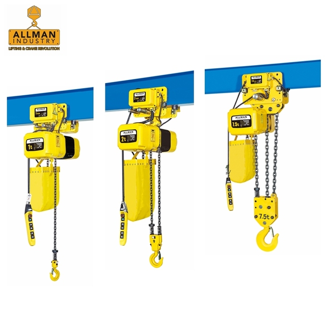 ALLMAN 500kg to 30ton top quality 220V 380V 440V 3Ph electric lift hoist with Eaton / Schneider contactor and FEC80 Japan Chain