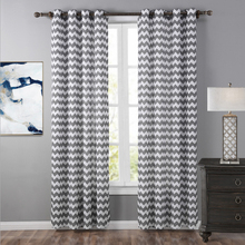 Popular and simple striped 100% polyester window curtain