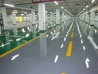 Collision-resistance epoxy colorized floor paint for factory, garage, warehouse