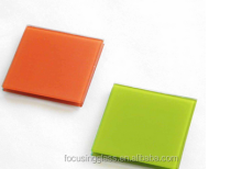 High Quality Candy Color Tempered Glass Coaster Pad