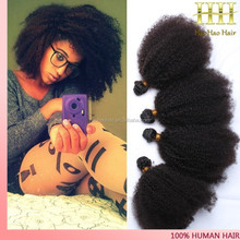 "4c afro kinky curly human hair weave 8""-32""afro kinky curly hair in south africa"