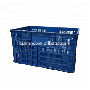 Seafood plastic crate for lobster crab plastic lobster crate