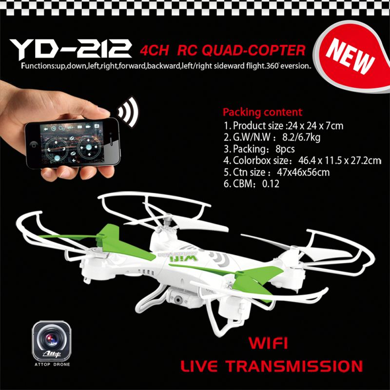 YD-212 Newest Factory Outlet 2.4G 3ch helicopters toy for adult