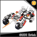 296 pcs Discovery kid creativity gift assault phantom chariot building block toy for boys