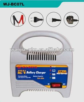 WJ-BC07L 12V 7A battery charger,CE,RoHs approved