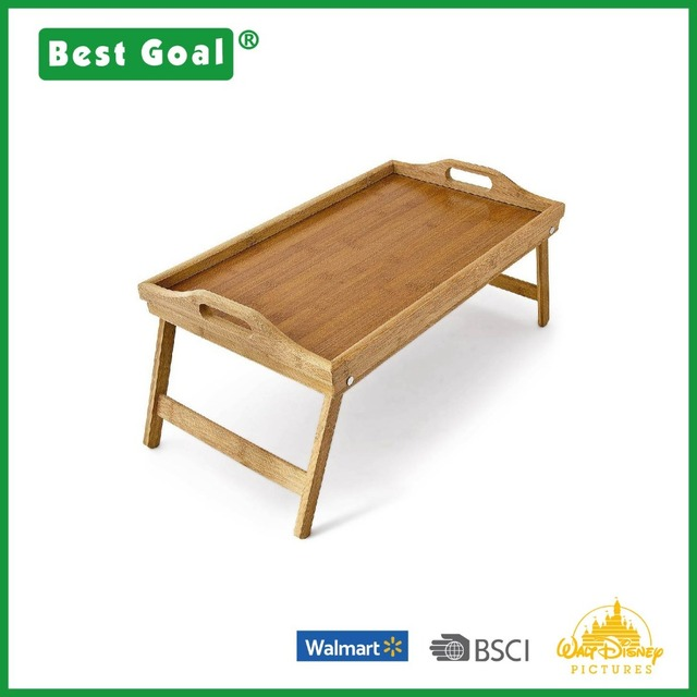 Cheap lightweight wooden bamboo serving tray with legs