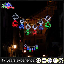 led table lamp led street motif lights hanging skylines street light bowknot ce/rohs motif led christmas lights