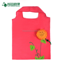 Best selling environment-friendly various flower custom shape shopping bag tote folding bag