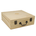Wholesale Wooden Well-knit Essential Oil Storage Box with Bronze Hinges