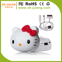 Factory hot sell hello kitty moble phone charge power bank hello kitty 8000mAh