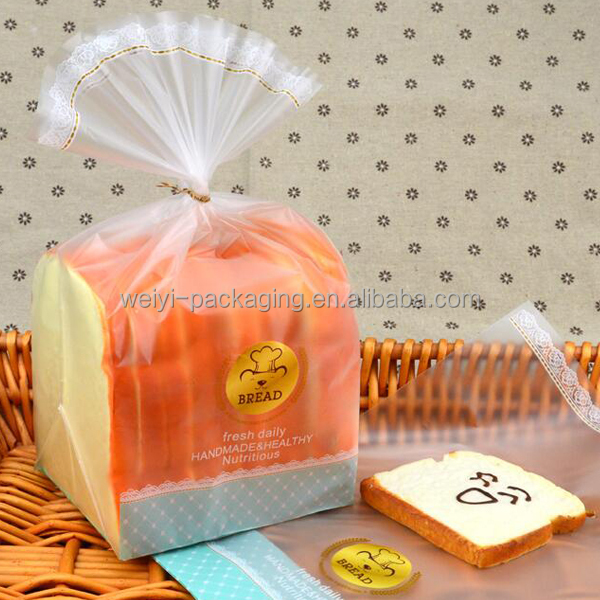 cookies/biscuits/muffin/bread snack packaging bag custom printed clear plastic bread bags