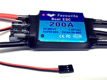 RC Boat ESC 200A Brushless Water-cooling Speed Controller for Radio Control Model Boat