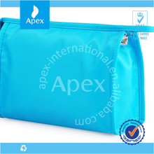 blue plain double layer cosmetics bags