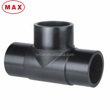 HDPE material butt fusion equal tee DN280mm for HDPE pipeline