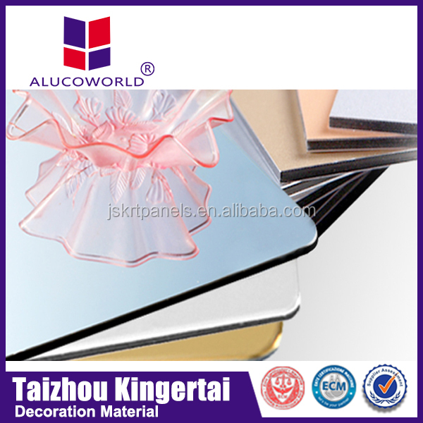 Alucoworld PPG Painting interior metal wall panels faux alabaster backlit ceiling panels aluminum composite panel