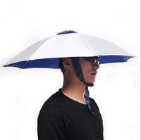 1 dollars head umbrella ,cheap umbrella hat for adults and kids