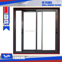 House and office tempered glass aluminum sliding windows